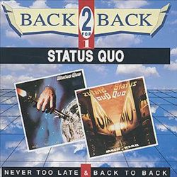 Status Quo - Never To Late Back To Back CD (album) cover