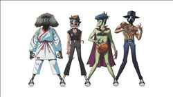 GORILLAZ image groupe band picture
