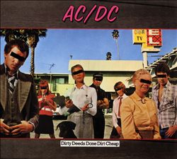 Ac/dc - Dirty Deeds Done Dirt Cheap CD (album) cover