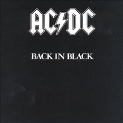 AC/DC - Back In Black CD album cover