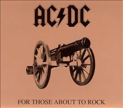 Ac/dc - For Those About To Rock We Salute You CD (album) cover