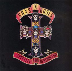 GUNS N' ROSES - Appetite For Destruction CD album cover