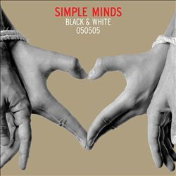 Simple Minds - Black & White CD (album) cover