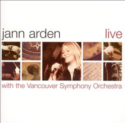 Jann Arden - Live With The Vancouver Symphony CD (album) cover