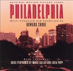 Howard Shore - Philadelphia CD (album) cover
