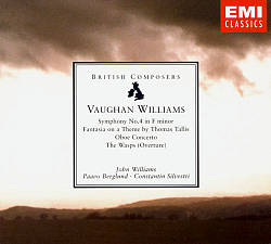 John Williams - Ralph Vaughan Williams: Symphony No. 4 In F Minor; Fantasia On A Theme By Thomas Tallis; Oboe Concerto CD (album) cover
