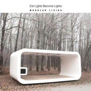 Eat Lights Become Lights - Modular Living CD (album) cover