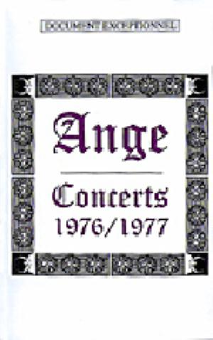 Ange - Concerts 1976/1977 DVD (album) cover