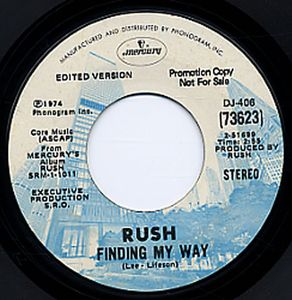 Rush - Finding My Way CD (album) cover