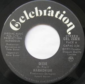 Harmonium - Dixie CD (album) cover